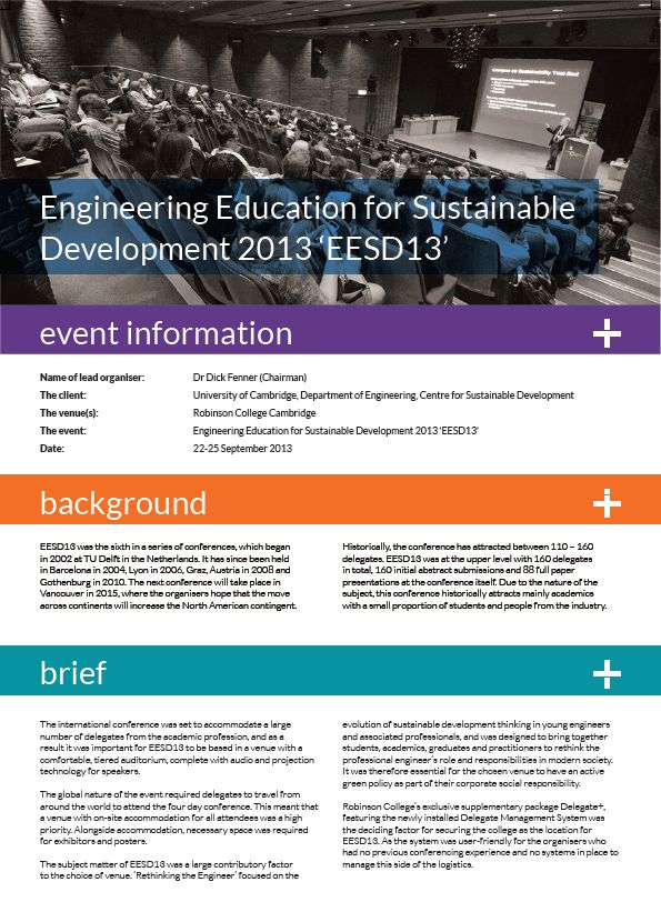 Engineering Education for Sustainable Development Case Study