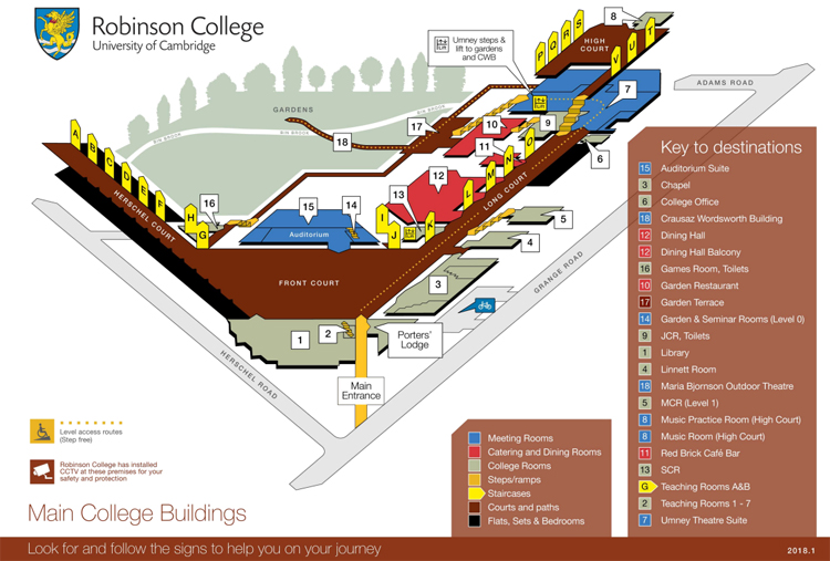 Plan of Robinson College
