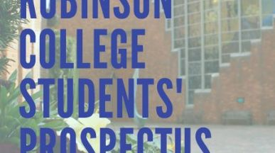 Image of Robinson College Students' Prospectus